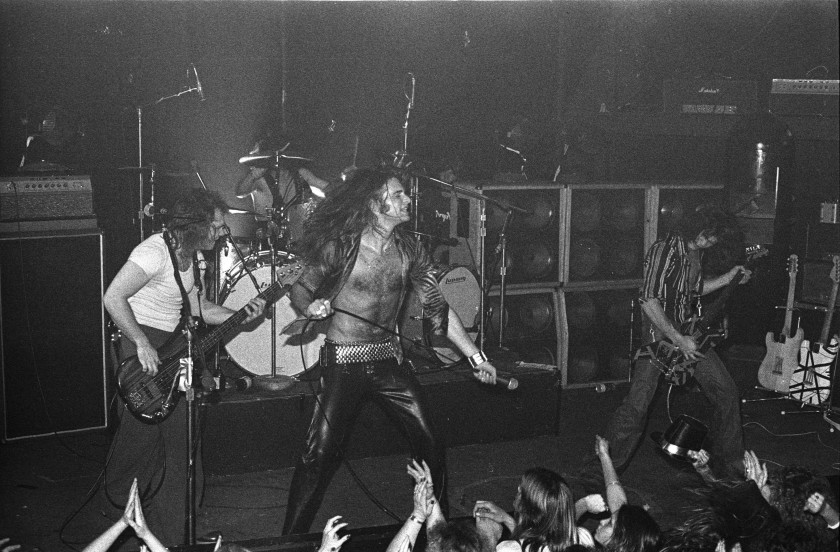 Van Halen performs at the Whisky a Go Go, 1977.