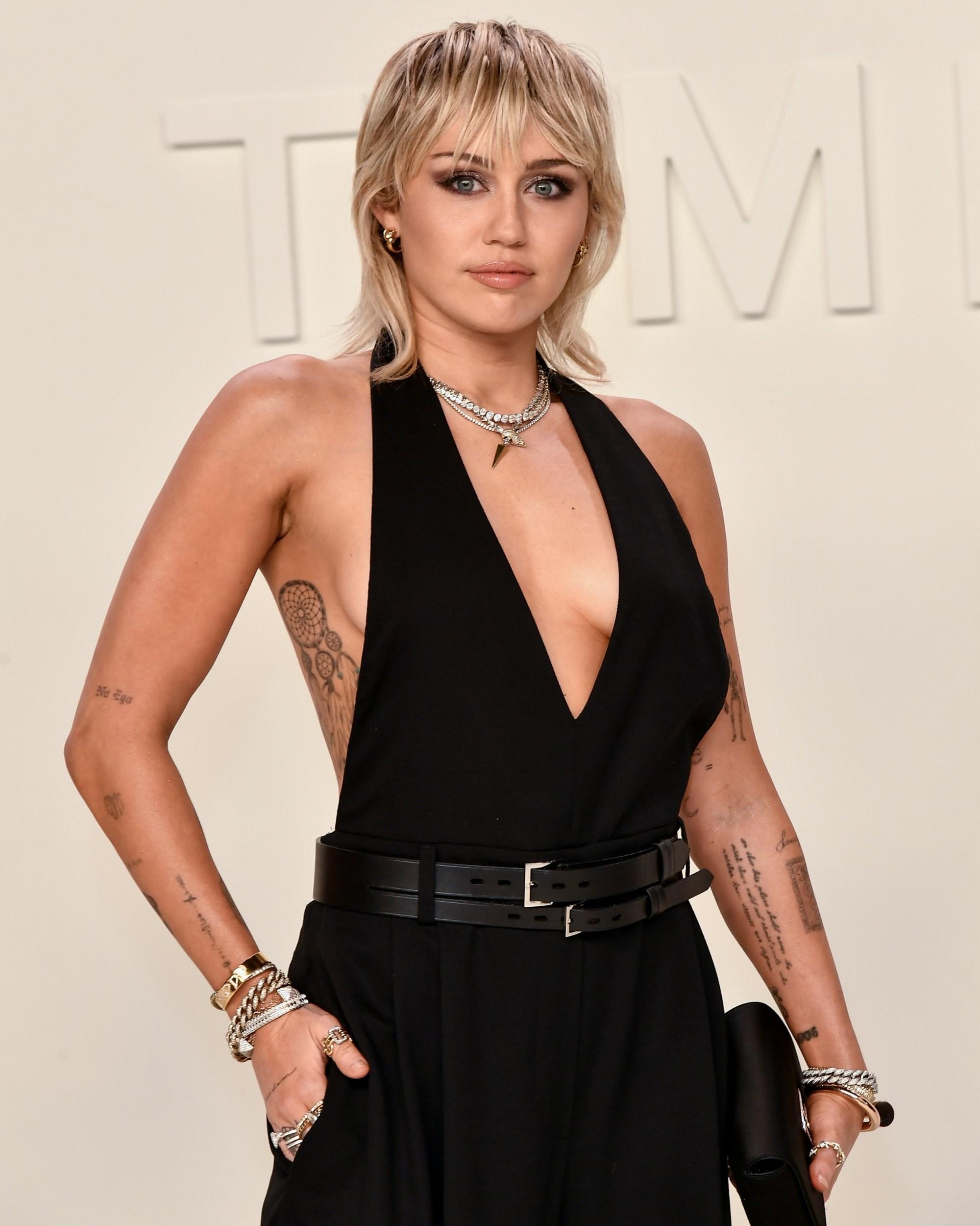 Mandatory Credit: Photo by Rob Latour/REX (10551994de) Miley Cyrus Tom Ford show, Arrivals, Fall Winter 2020, Milk Studios, Los Angeles, USA - 07 Feb 2020