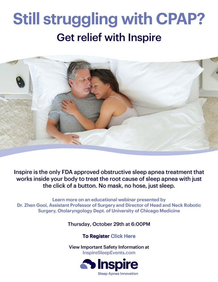 Still Struggling With CPAP? Get Relief With Inspire Therapy