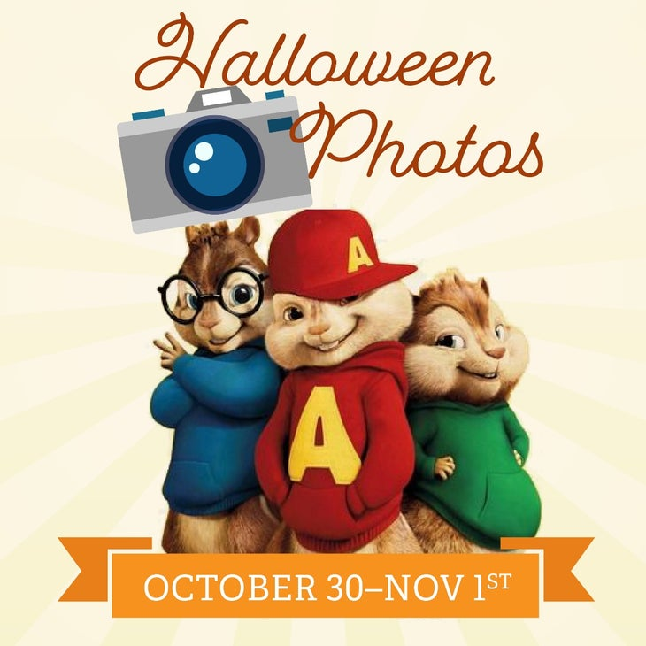 Halloween Photos with the Chipmunks
